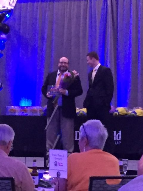 Dr. Brottman accepting the Best of the Best Award