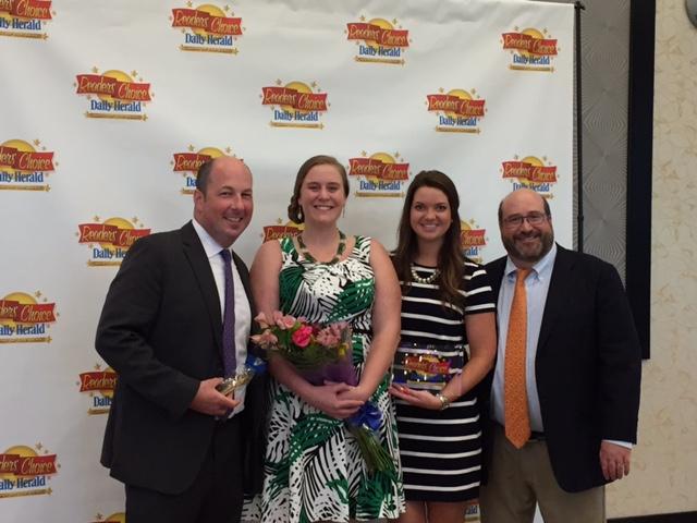 Receiving the award for APL: Dr. Kalcheim, Beka, Sarah, Dr. Brottman
